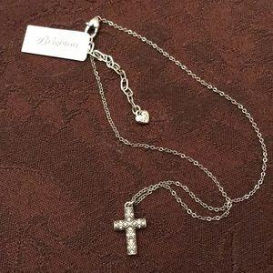 Brighton Diamond Cross necklace with extender